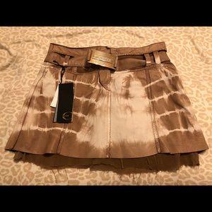 Roberto Cavalli leather skirt
